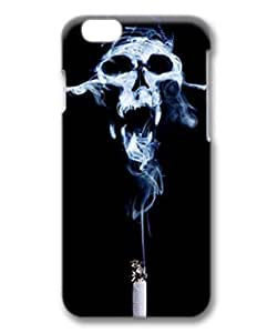 Unique Design Case for iphone 6,Fashion 3D PC Shell Skin for iphone 6 with Skull Smoke