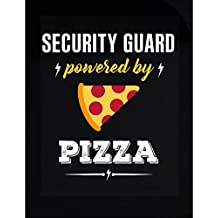 Security Guard Powered By Pizza Funny Gift - Sticker