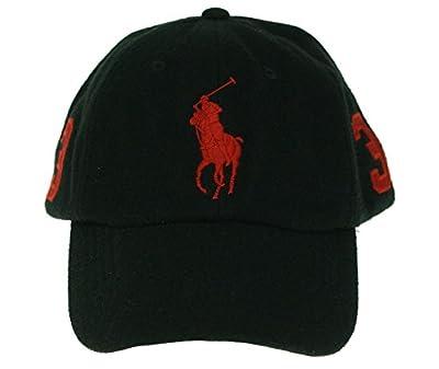 Ralph Lauren Big Pony Polo Black Red O/S Authentic