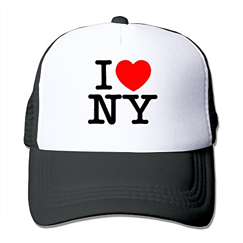 CYSKA Unisex Casual Caps Hat I Love NY New York Logo Baseball Cap Hat Black