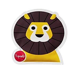 3 Sprouts Lion Ice Pack, Yellow