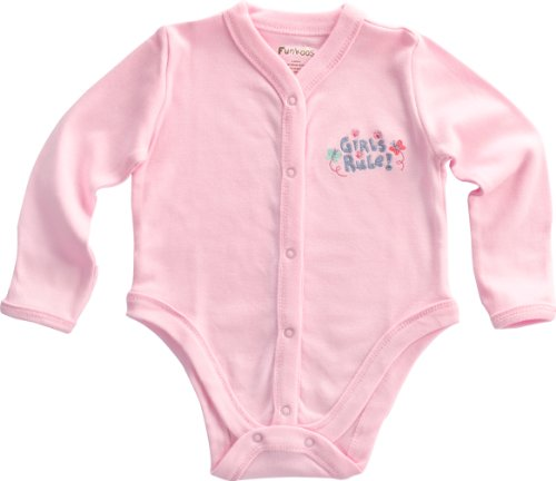 Funkoos Girls Rule Long Sleeve Organic Baby Body suit