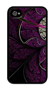 iPhone 4 Case,iPhone 4S Case,VUTTOO iPhone 4 Cover With Photo: Stained Glass Mural For Apple iPhone 4/4S - TPU Black
