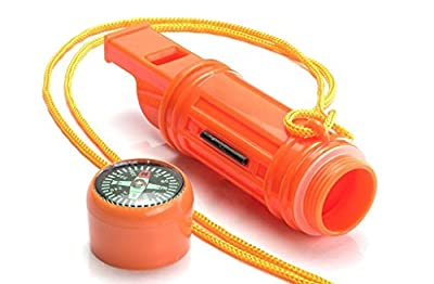 SanWay 5 IN 1 Camping Emergency Whistle Compas