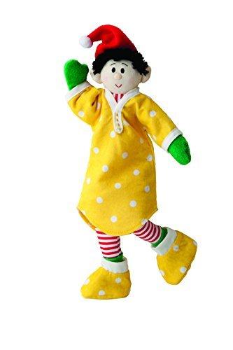 (Elf Magic Jingle Bell Jammies Yellow Nightshirt and Slippers Elfit - 10 Inch )