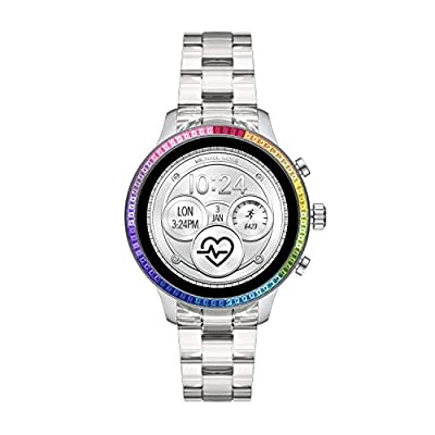 Michael Kors Access Women's Runway Stainless Steel Touch-Screen Smartwatch with Plastic Strap, Clear, 18 (Model: MKT5065) by Michael Kors Connected Watches Child Code