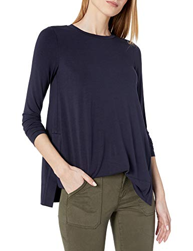 Daily Ritual Damen Long-Sleeve Split-Hem Tunic Shirts
