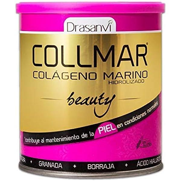 COLLMAR Beauty Colágeno Marino Hidrolizado con Ácido Hialurónico, Vitamina C, Biotina, Aceite de Onagra, Aceite de Borraja y Granada 275 gr Polvo: Amazon.es: Salud y cuidado personal