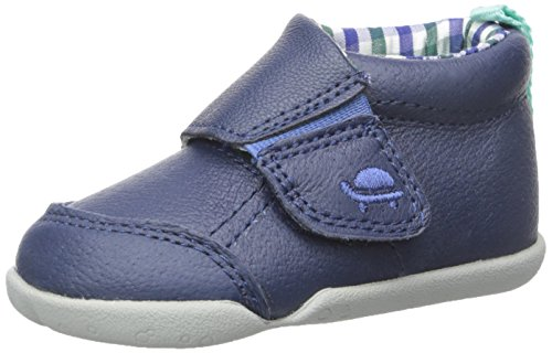 Carter's Every Step Stage 2 Boy's Standing Shoe, Bobby(Infant/Toddler), Navy/Plaid, 4.5 M US (Plaid Step)