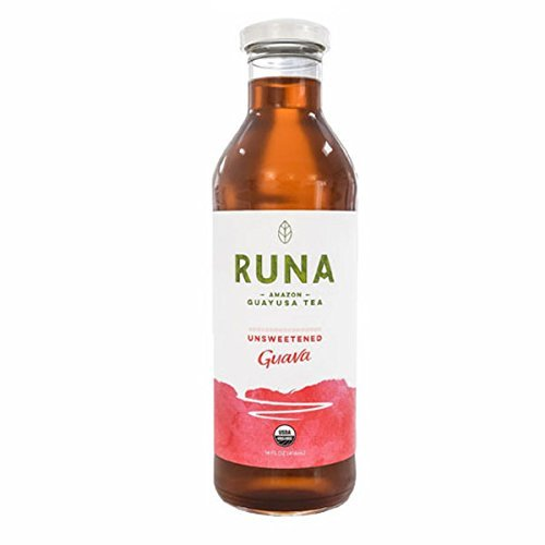 Runa Amazon Guayusa Unsweetened Bottled Tea, Guava, 14 Ounce (Pack of 6)