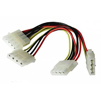 CNCT Molex Splitter cable ( SMPS Y Cable ) To power Three PATA HDD ...