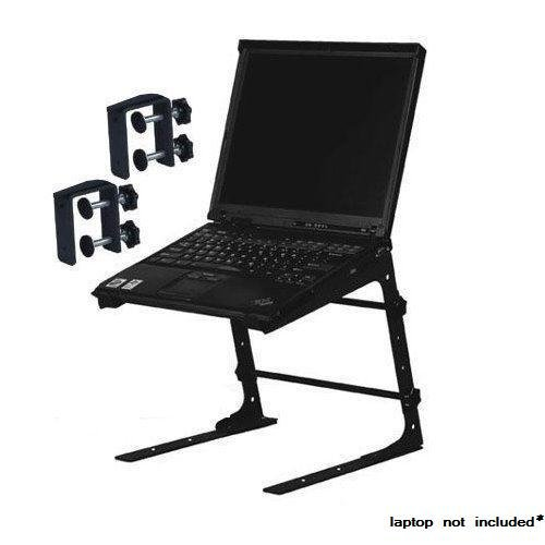 Professional Laptop L Stand With Clamps For DJ Pro Audio. PA Mixer Studio Laptop Computer Table Top DJ Rack Stand Mount Clamp Case L Gear