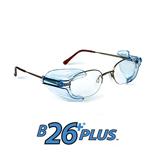 - B26+ Wing Mate Safety Glasses Side Shields- Fits Small to Medium Eyeglasses (2 Pair)