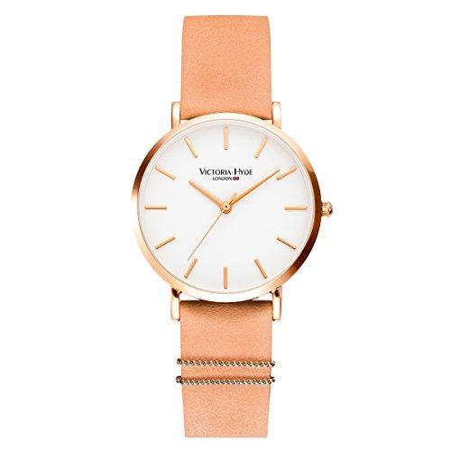 VICTORIA HYDE Women Quartz Watches Replaceable Leather Strap Wristwatch for Ladies