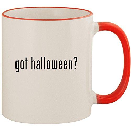 got halloween? - 11oz Ceramic Colored Handle & Rim Coffee Mug Cup, -