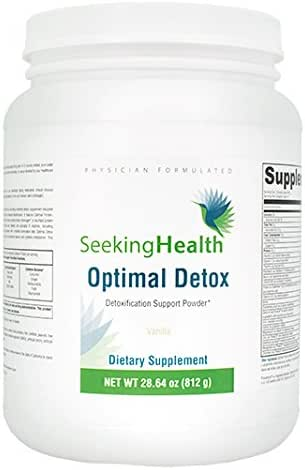 Optimal Detox Functional Food Powder - Vanilla 630 grams | Seeking Health | Immune Support and Protein Blend