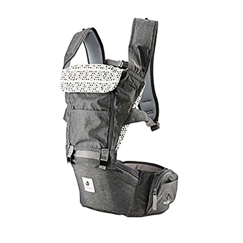 Cheap Pognae No 5 Outdoor Organic Baby Hipseat Front Backpack Carrier (Gray)