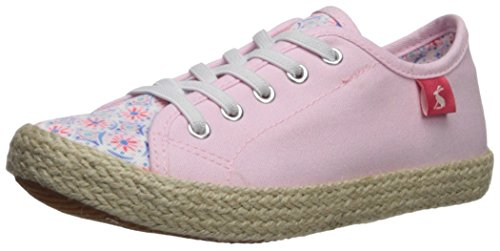 Joules Girls' Jnrplay Pump, Cream Summer Mosaic, 4 Medium US Infant (Trainers Easy Ups)