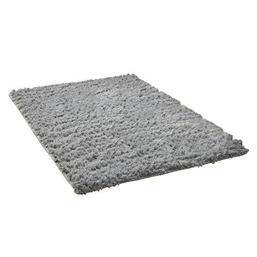 (dongzhifeng Rug Rugs Welcome Mat Door Mat Matt Indoor Non-Slip Carpet Floor Mat Rugmat Soft Carpet Living Room Bedroom Mat Antiskid Home Textile 80120cm Gray)