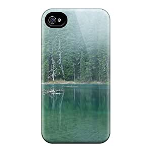 Excellent Design Twin Lake Phone Case For Iphone 4/4s Premium Tpu Case