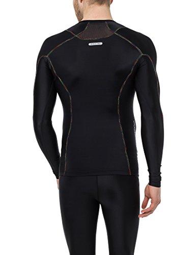 Homme À Compression Rainbow Noir Manches T Ultrasport Longues shirt De wxXO8nPIq