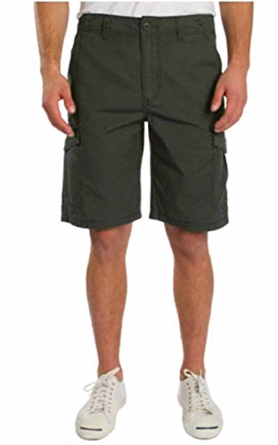 Unionbay Flat Front Shorts (Unionbay Mens Casual Wear Cargo Shorts (36, Military))