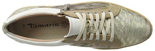 Tamaris 23712, Sneakers Basses Femme Argent (LT GOLD COMB 759)