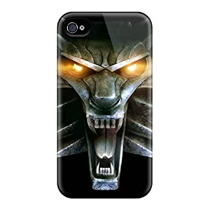 Cute Tpu TiffanyLCarver Video Games The Witcher Wolves Case Cover For Iphone 4/4s