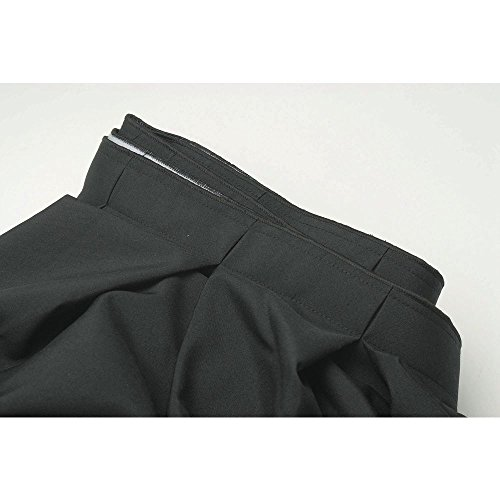 (Table Skirting Box Pleat Black Polyester - 29 ╜