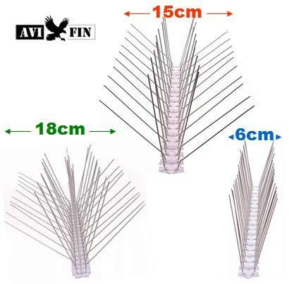 AVIFIN Antipalomas - Pinchos, Púas antiaves. Compre los Metros Exactos del Modelo Que Necesita. Combine Distintos Modelos en función de Sus ...