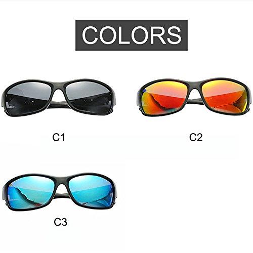 Classic Orange Riding De Hombre Deportivas para New De Sol and Blue Europe Sol Gafas De Polarized Gafas Gafas Red Net Sol Douerye America xIq711