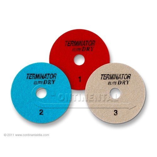 10 Sets - Terminator Elite 3-Step DRY Polishing System (4'', Position 1,2 & 3) by TerminatorDIA