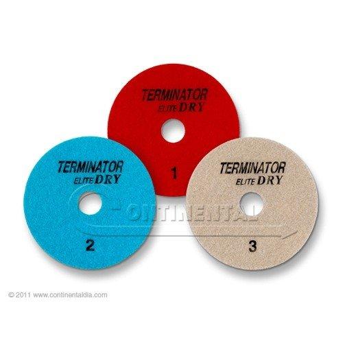 10 Sets - Terminator Elite 3-Step DRY Polishing System (4'', Position 1,2 & 3)