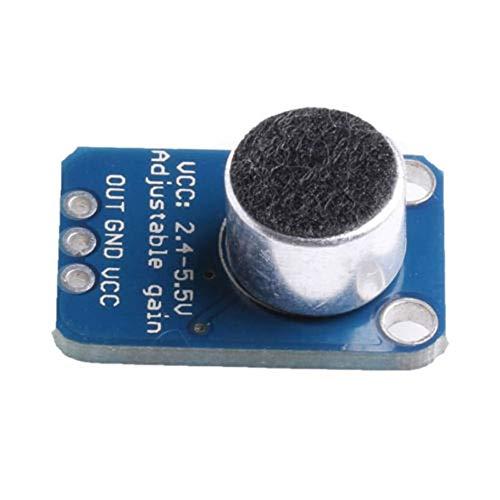 GY-4466 Alta Precisi/ón Preamplificador M/ódulo Micr/ófono Electret Amplificador MAX4466 con Ganancia Ajustable para Arduino