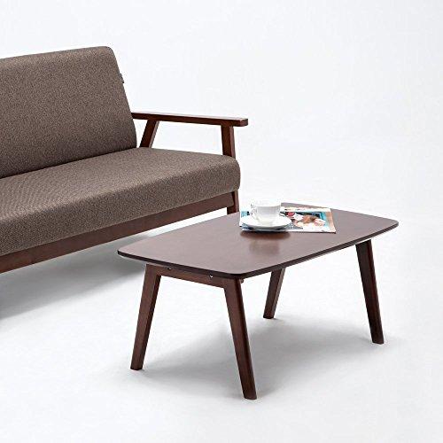 Amazon.com: Krei Hejmo Solid Wood Coffee Tea Sofa Side Table (102-Rectangular, Dark Brown