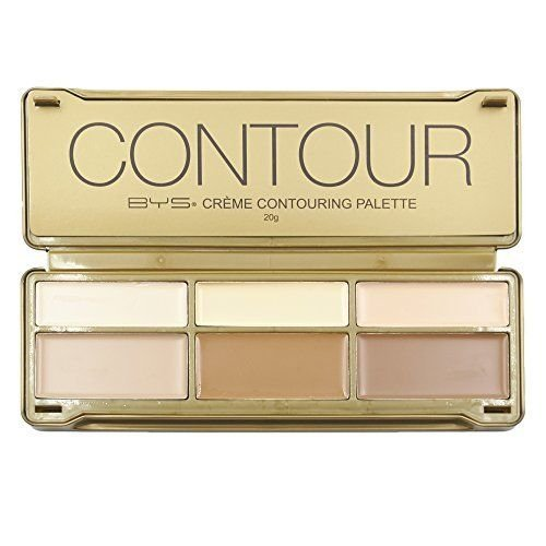 BYS Cream Contouring Palette Tin Collection with Mirror, Crème Contouring Palette, Contour Cream ()