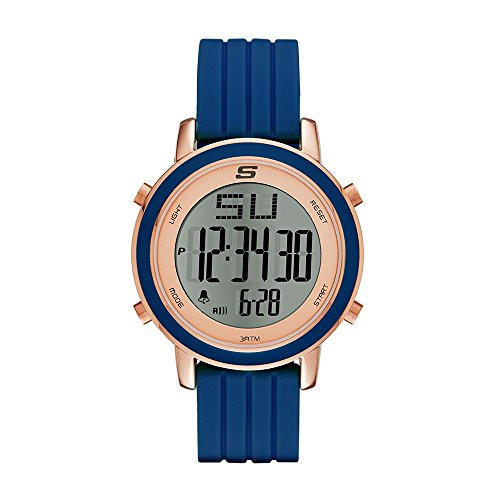 - Skechers Women's Westport Quartz Metal and Silicone Digital Watch Color: Rose Gold, Navy (Model: SR6010)