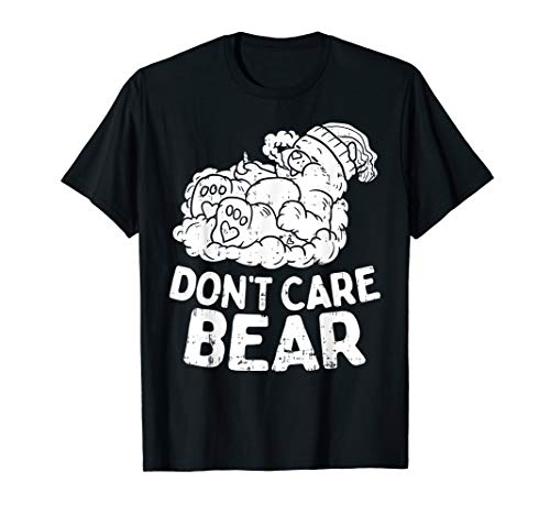 Bear Smoking Weed Funny Weed 420 Cannabis Marijuana Gift T-Shirt (Bong Bear Don T Care T Shirt)