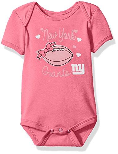 Pink Ny Giants (Outerstuff NFL Infant Sunday Best Short Sleeve Onesie-Dark Pink-24 Months, New York)