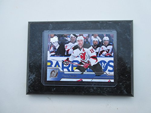 Travis Zajac New Jersey Devils Upper Deck 2017 player card mounted on a 4