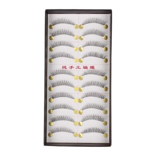 So Beauty Daiqina 10 Pairs Reusable Natural and Regular Long False Handmade Eyelashes Top Quality Eye Lashes Makeup - C6 Search