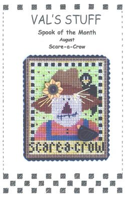 August Ornament-Scare-A-Crow by Vals Stuff Cross Stitch Chart