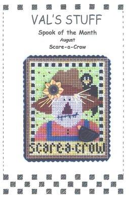 Vals Stitch - August Ornament-Scare-A-Crow by Vals Stuff Cross Stitch Chart
