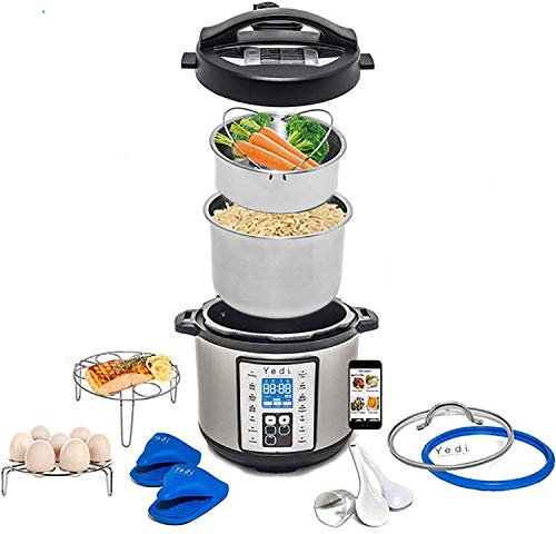 Total Package 9-in-1 Instant Multi-Use Programmable Pressure Cooker, Deluxe Accessory Kit & Recipes....