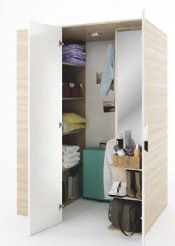Begehbarer Kleiderschrank Gusto 130 Cm In Der Farbe Eiche Natur/Weiß  Rechts: Amazon.de: Küche U0026 Haushalt