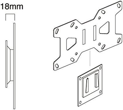 GISAN AX103 - Soporte de pared fijo para TV LED/LCD de peso máximo 20 kg y VESA 200 x 100 mm, acero, color negro: Amazon.es: Electrónica