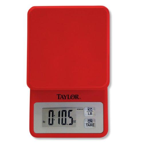 Taylor 3817 Mecánico Rojo - Báscula de cocina (Mechanical kitchen scale, 5 kg, 1 g, Rojo, g, oz, LCD)