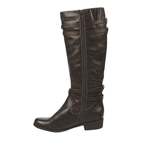 Naturalizer Victorious Wide Calf Damen Rund Mode-Knie hoch Stiefel Grey