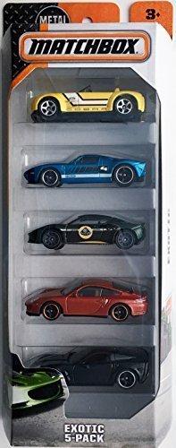Matchbox 2016 Exotic 5-Pack Corvette Race Car
