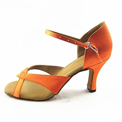 Arancione di Colore Estate per di Samba da Cinturino Scarpe Jazz Caviglia Latino Ballo alla Cinturino Ballo BYLE Onecolor Sandali Moderno Ballo Adulti Scarpe da Scarpe da Cuoio pw7gx4q